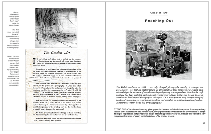 Second page spread from With Photography - Not Just An Autobiography