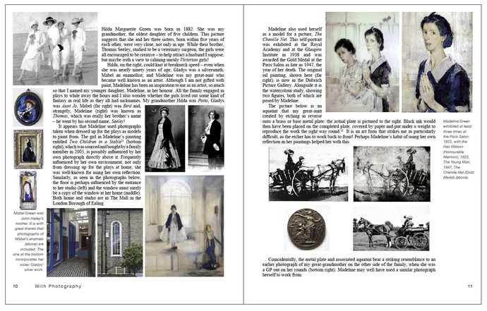 page spread from With Photography - Not Just An Autobiography