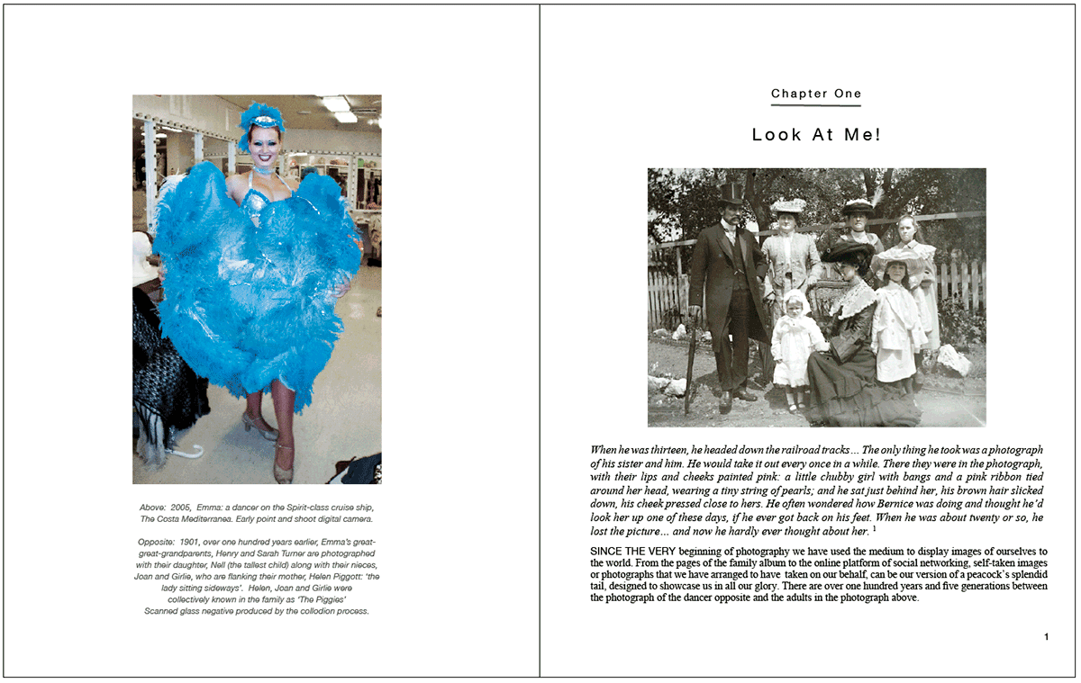 Book spread of With Photography Not Just An Autobiography