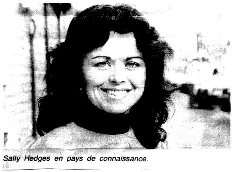 Sally Hedges Greenwood article in French newspaper